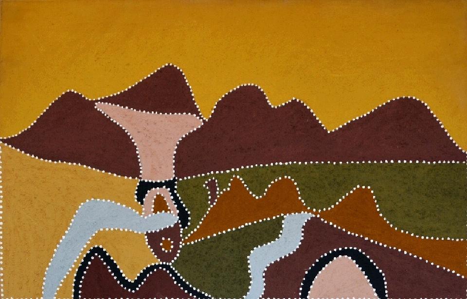 Kooramooliny (Waterhole) - N-2420-SP by Shirley Purdie