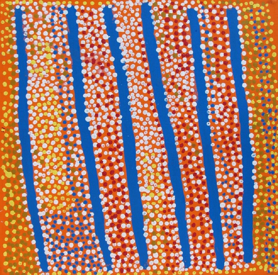 Ngapa Jukurrpa (Water Dreaming) - Puyurru - SJRWU258/07 by Shorty Jangala Robertson