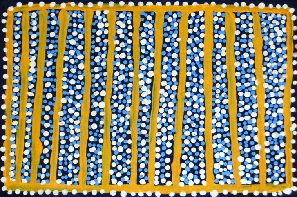 Ngapa Jukurrpa (Water Dreaming) - Puyurru - SJRWU2937/10 by Shorty Jangala Robertson