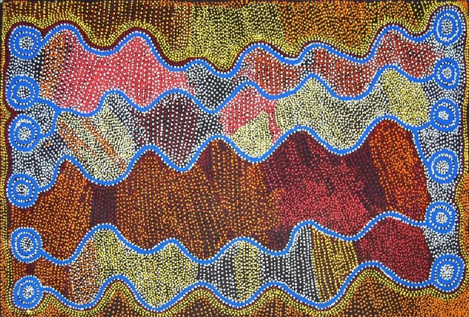Ngapa Jukurrpa (Water Dreaming) - Puyurru - SJRWU1468/06 by Shorty Jangala Robertson