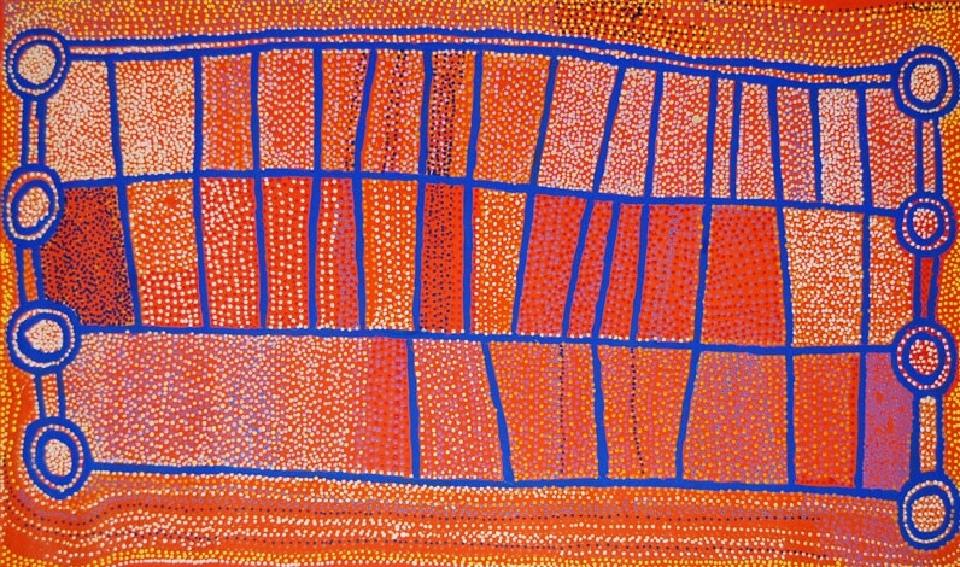 Ngapa Jukurrpa (Water Dreaming) - Puyurru - SJRWU297/08 by Shorty Jangala Robertson