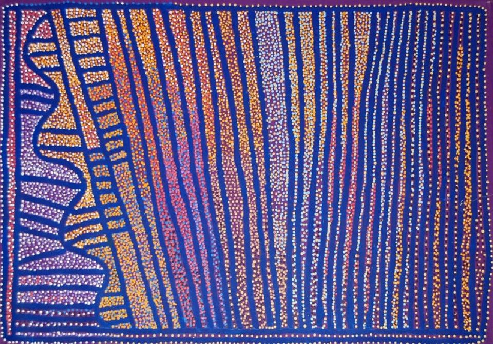 Ngapa Jukurrpa (Water Dreaming) - Puyurru - SJRWU2992/09 by Shorty Jangala Robertson