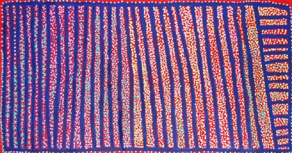 Ngapa Jukurrpa (Water Dreaming) - Puyurru - SJRWU3791/09 by Shorty Jangala Robertson