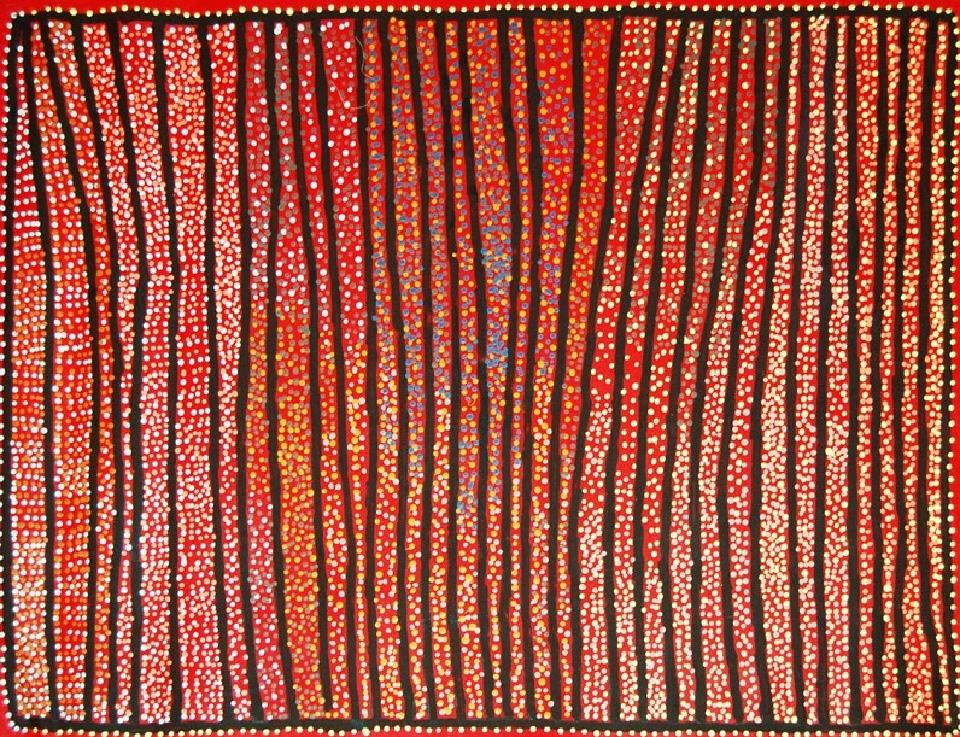 Ngapa Jukurrpa (Water Dreaming) - Puyurru - SJRWU3049/09 by Shorty Jangala Robertson