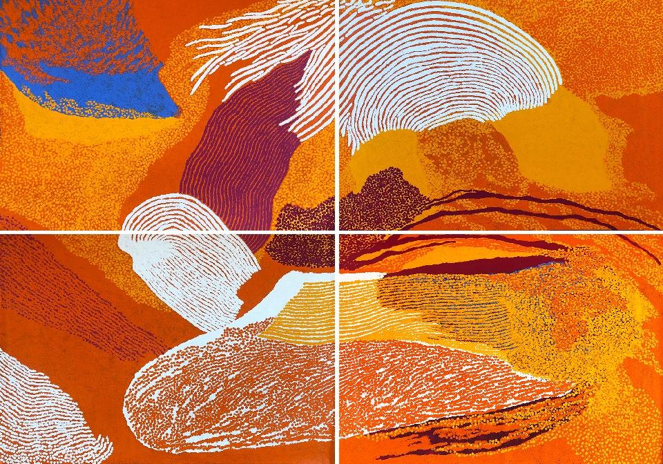 Untju Alkata (quadriptych) - TWAG13130 by Tommy Watson