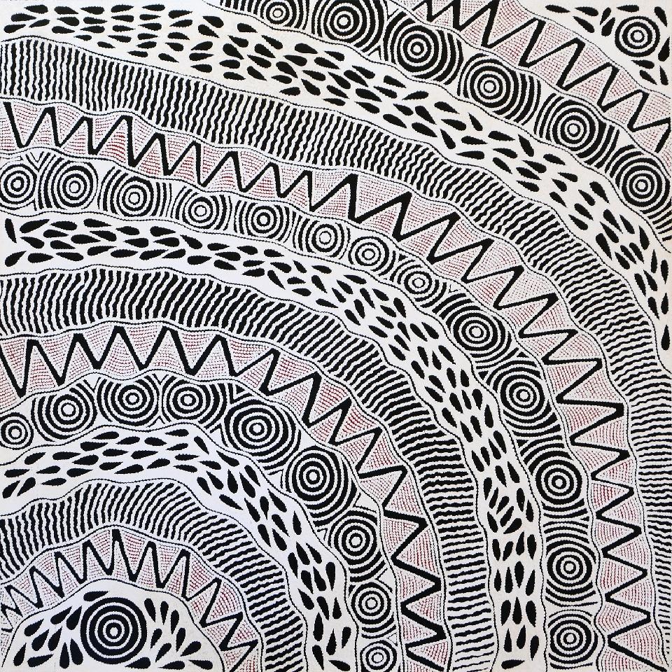 Pikilyi Jukurrpa (Vaughan Springs Dreaming) - UNHWU779/19ny by Ursula Napangardi Hudson