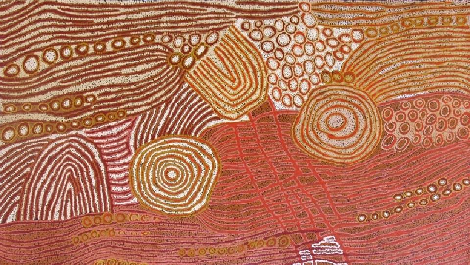 Women's Dreaming (some assistance from family) - WNA020 by Walangkura Napanangka