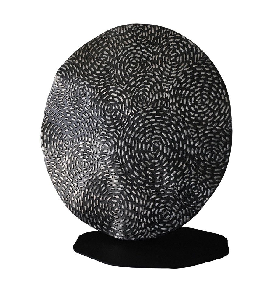 Earth Cycles Sculpture - WKJDDS21006 by William King Jungala