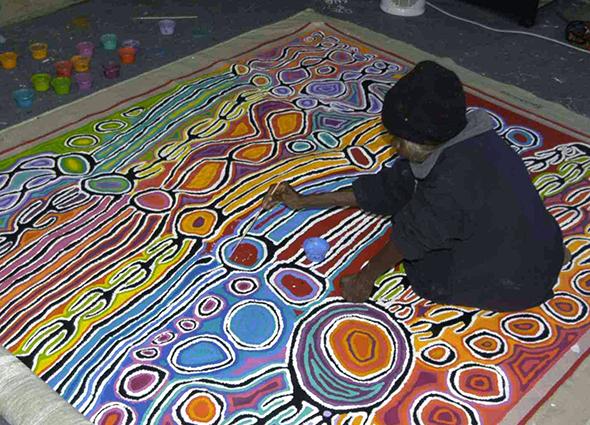 Judy Watson Napangardi painting