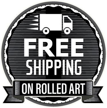 free shipping on rolled artworks